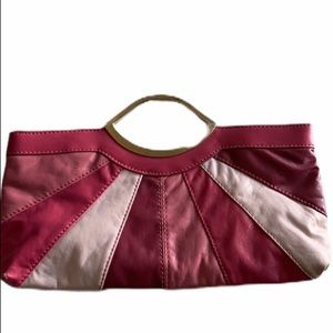 Candies Clutch Purse Pink With Silver Handles